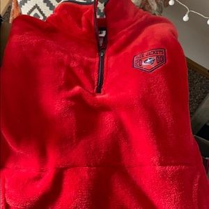 Red soft blue jackets pullover